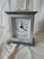 Vintage Old Bentima Clock Faux Marble 70s 80s