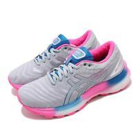 Asics Gel-Nimbus 22 Lite Grey Pink Blue Womens Road Running Shoes 1012A667-100