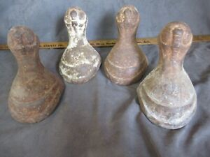 Antique Cast Iron Large Claw Foot Bathtub Feet 4 Matching