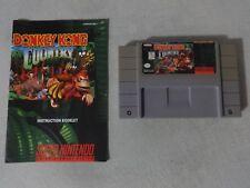 EUC Donkey Kong Country Super Nintendo SNES Cart & Manual Free Ship