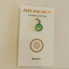 $22 Alex and Ani August peridot, Swarovski green Charm - Sterling Silver - A3