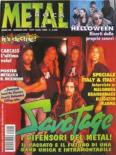 METAL SHOCK 220 1996 Savatage Helloween Carcass Killing Joke Dearly Beheaded