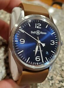 Bell & Ross Automatic Vintage Blue Dial Men's Watch BRV192-BLU-ST