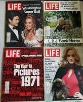 Vintage Life Magazines 1971 The Year in Pictures LBJ Washington Super Ball China