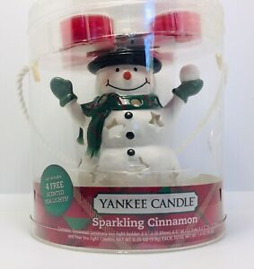 Yankee Candle Snowman Luminary Gift Set Sparkling Cinnamon