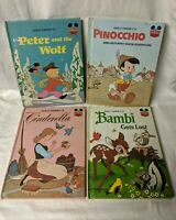 Children's Book Lot Disney's Wonderful World of Reading 4 Books 1970's Vintage