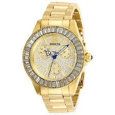 Invicta Angel 28448 Women's Roman Numeral Analog Gold Tone Day Date Pave Watch