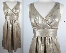 New ETRO sz 44 / US 8 gold dress with pockets