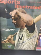 Mickey Mantle Autographed Sports Illustrated Cover Signed Magazine Yankees HOF