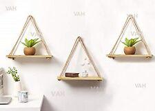 VAH Wall Hanging Shelf, Wood 3 Set Combo of Pine Shelf