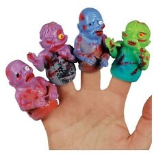 4 Count Zombie Style Rubber Finger Puppets