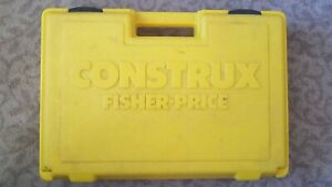 Vintage Construx Yellow Carrying Case Box Only Made in USA 1983 Drone Hotwheels