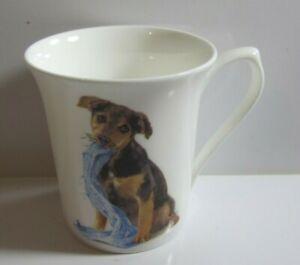 Queen's Fine Bone China Frolicking Dogs Harvey Tea/Coffee Mug