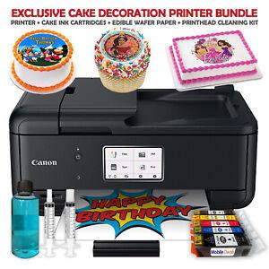 Canon Cake Topper Image Printer, Edible Ink Cartridges, 50 Wafer Sheets Bundle