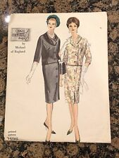 1960 VOGUE COUTURIER SEWING PATTERN 1496 MISSES SUIT SIZE 14-RARE