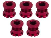 5-Count Set of Origin8 ALLOY Single-Speed BMX Track Fixie Chainring Bolts RED