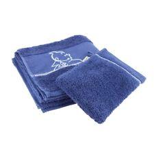 Toalla y Guante de baño Moulinsart Tintín 100% Algodón - Azul (100x50cm)