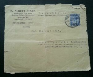 [SJ] Germany Telegram 1925 Old Document Cover Letter *see scan