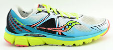 WOMENS SAUCONY KINVARA 6 RUNNING SHOES SIZE 12 US 44.5 EU WHITE BLUE YELLOW