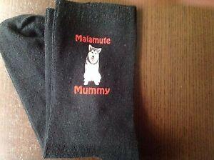 GIFT BAG ALASKAN MALAMUTE MUMMY PRINTED SOCKS BIRTHDAY PRESENT MUM MOTHERS DAY