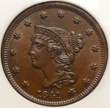 1841 Large Cent, Gem Uncirculated, Nice PQ Lustrous Surfaces   0407-01