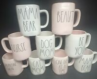 Rae Dunn Mugs *Choose One* Pink/Mom Collection Quarantine Queen,Mama Bear,Be You