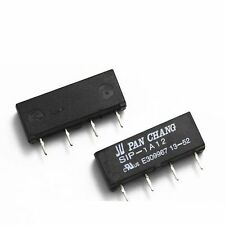 10 PCS 12V Relay SIP-1A12 Reed Switch Relay 4PIN for PAN CHANG Relay