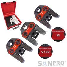 3 x ROTHENBERGER Pressbacke - Presszange V / SV - M Profil auch für REMS Pressen