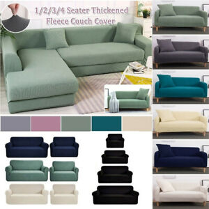 1-4 Seaters Waterproof Stretch Sofa Seat Cushion Armchair Cover Couch Slipcovers