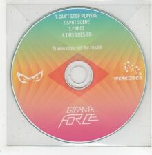(GD968) Giganta Force, Can't Stop Playing - DJ CD
