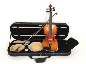 Handmade Symphony 4/4 Solid Wood Violin Pack w/Deluxe Case, Ebony Pegs SJV 01AA