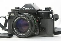 [ NEAR MINT ]  CANON A-1 Black SLR Film Camera w/ NFD 50mm f/1.4 Lens from Japan
