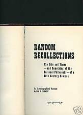 Random Recollections, Autobiographical, Dan Casement