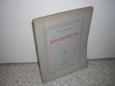 1928.épaisseurs / Léon-Paul Fargue.envoi autographe.ex.du SP sur pur fil.Bon ex