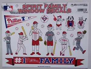 Philadelphia Phillies Spirit Family Window Decal Set