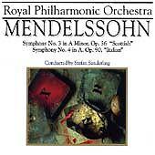 Symphony 3 & 4, Sanderling, Rpo, Mendelssohn - (Compact Disc)