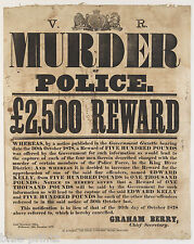 Australian History Wanted Ned Kelly Reward Poster Print Police Victoria 1878