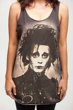 JOHNNY DEPP Edward Scissorhands Movie WOMEN T-SHIRT DRESS TANK TOP Size S M