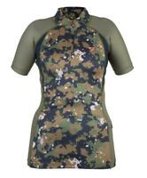 Shires Aubrion Ladies Highgate Short Sleeve Base Layer Shirt in Camo