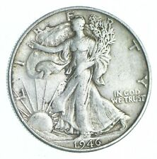 XF+ 1946-S Walking Liberty 90% Silver US Half Dollar - NICE COIN *814