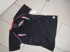 KILLTEC Technical Outdoor Reflective Black/pink Short Sleeved Top Size 12 NEW