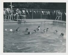 1960's Vintage W.C. Runder Swimming Pool Great Casual Photo 8x10 Stamped on Back