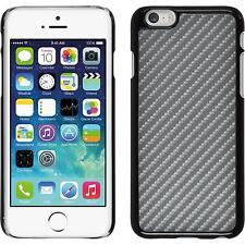 Coque Rigide Apple iPhone 6s / 6 - look carbone argenté + films de protection