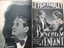 """LE FILM COMPLET 1937 N 1926 """" BERCEUSE A L' ENFANT """" avec  MAGDA SCHNEIDER."""