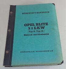 Werkstatthandbuch Opel Blitz Vorkrieg ab Baujahr 1930 Stand 1943