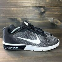 Nike Air Max Sequent 2 Men's SIZE 13 Black/Grey Running Sneaker 852461 005