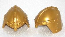 2 x HELM GOLD MIT NASENSCHUTZ PLAYMOBIL zu Ritter 6000 6001 6006 6005 6039 -1077