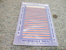 Microscale decals HO 87-428 Amtrak Phase III striping passenger cars    A26