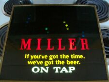 """Vintage Miller """"Bouncing Ball"""" Motion Beer Sign - In Working Condition"""