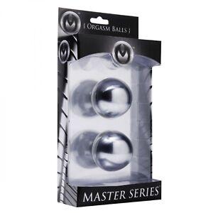 "Master Series Titanica Extreme Steel Orgasm Balls Kegel BenWa 2"" Vaginal"